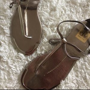 Dolce vita metallic pewter Sandals